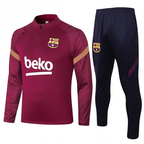 Бордово-синий тренировочный костюм Барселоны 2020-2021 сезона